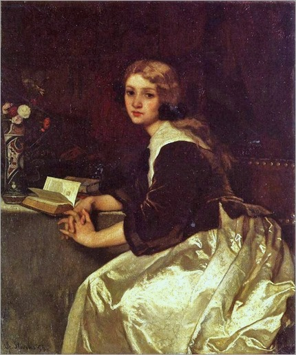1a Alfred Stevens (Belgian Painter, 1823-1906)  Reverie