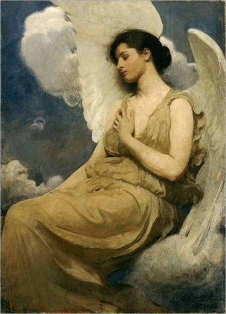 Abbott Handerson Thayer Winged Figure, 1889 Oil on canvas