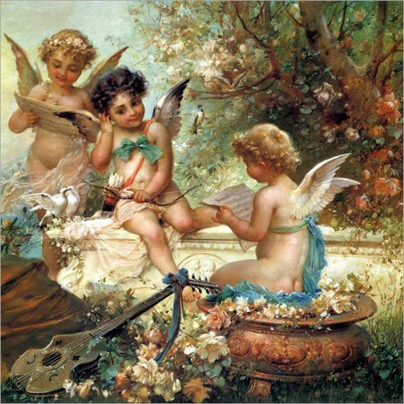 angels by Hans Zatzka