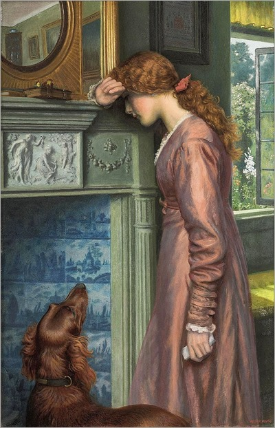 Arthur Hughes - A Passing Cloud