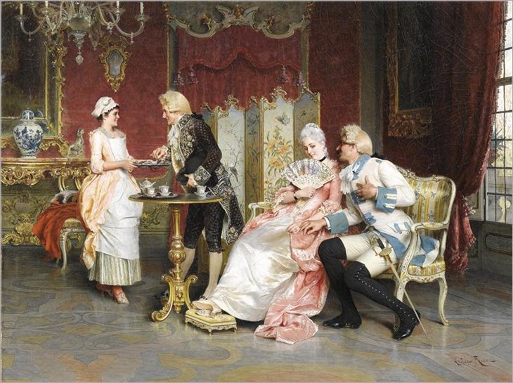 Arturo Ricci (italian, 1854-1919)-Nachmittagstee