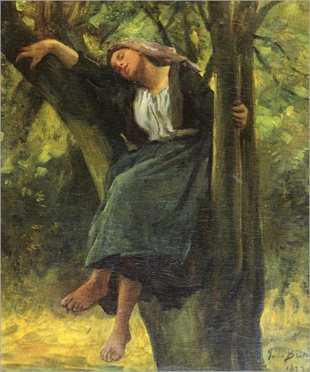 Asleep In The Woods-Jules Breton