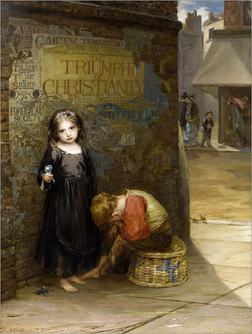 Augustus Edwin Mulready - Uncared For 1871