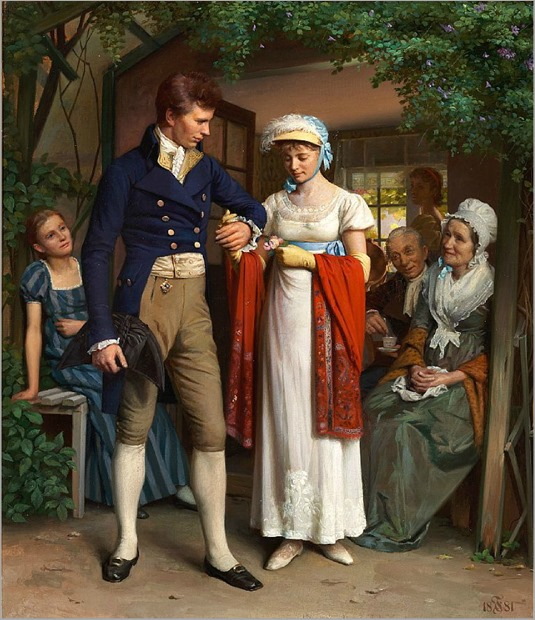 Carl_Thomsen_The_newly_engaged_couple