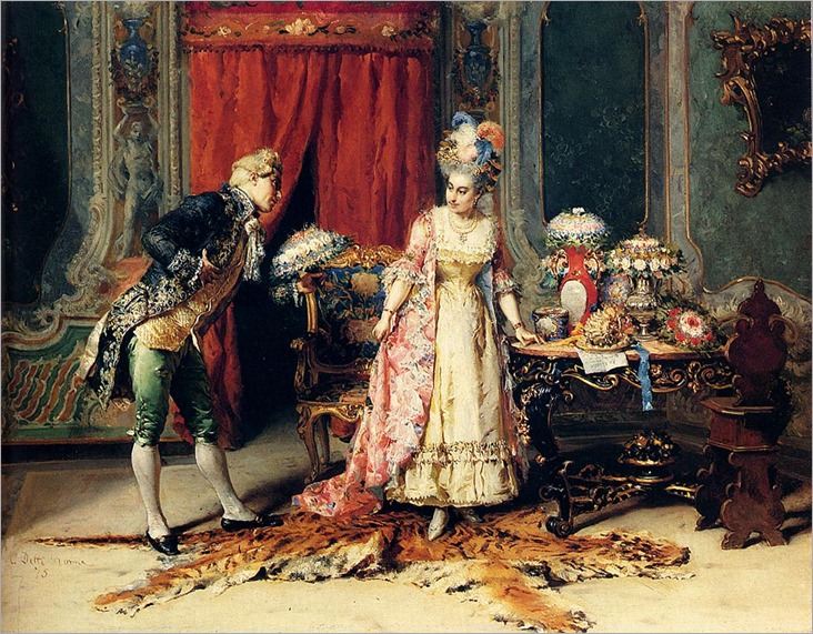 Cesare Auguste Detti - Flowers For Her Ladyship