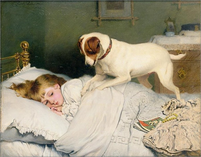 Charles Burton Barber - TIME TO WAKE UP