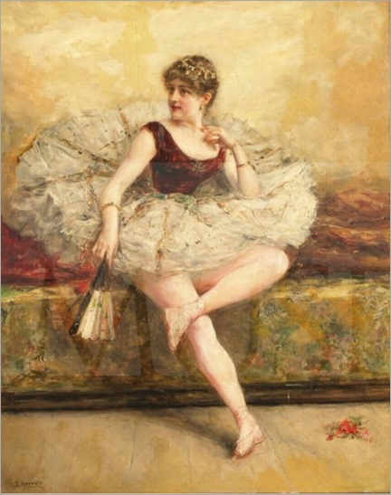 Dancer with a Fan. Eduardo León Garrido (Spanish, 1856-1949).
