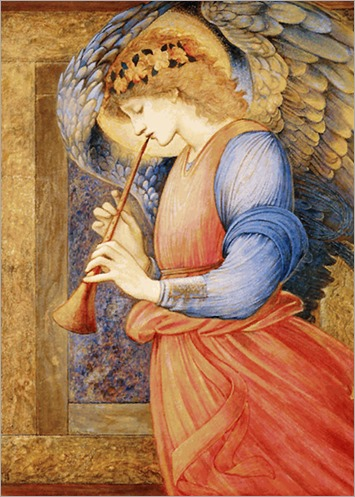 Edward_Burne-Jones_-_An_Angel_Playing_a_Flageolet
