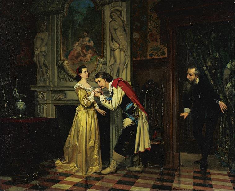 Franz Moormans (1831or32 - 1883) - The courtship, 1867