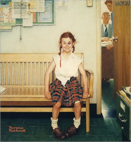 girl-with-black-eye-Norman-Rockwell