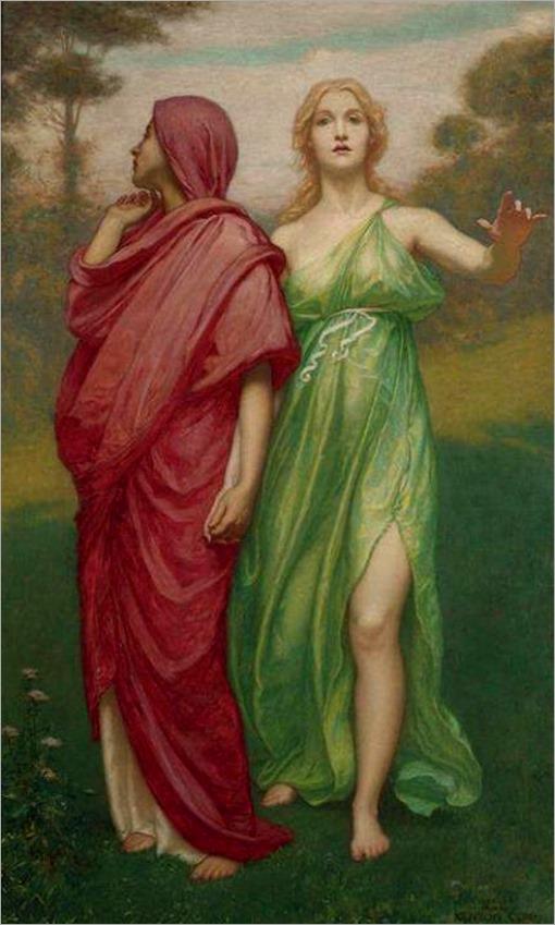 hope and memory -Kenyon Cox - 1900