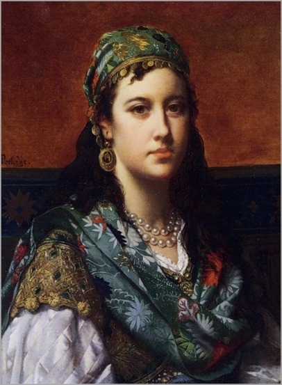 Jan Frederik Pieter Portielje (dutch,1829-1908) - An oriental beauty