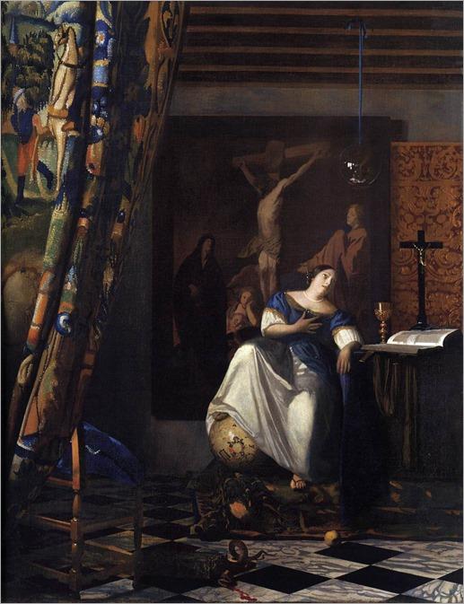 Johannes Vermeer_-A Alegoria da Fé, 1671-74