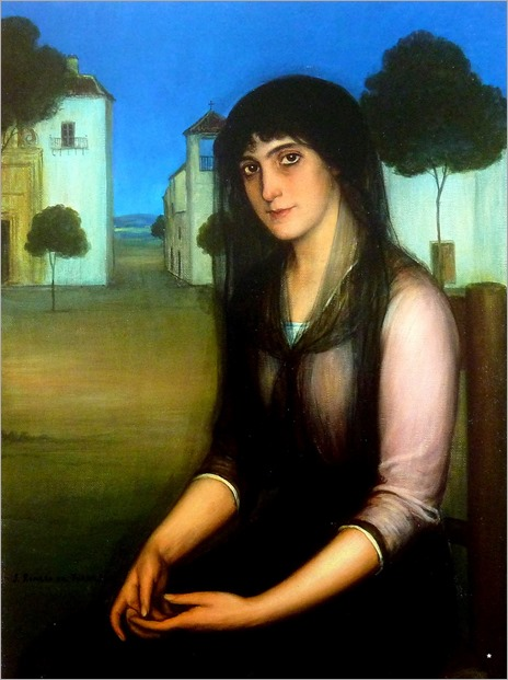 Julio Romero de Torres (Cordoba, 1880-1930) Meditacion (c. 1910-1914)
