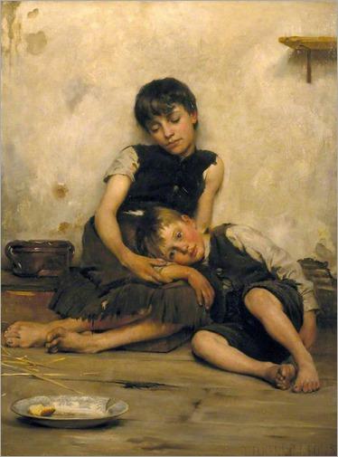 Kennington_Thomas_Benjamin (english, 1856- 1916_Orphans_1885
