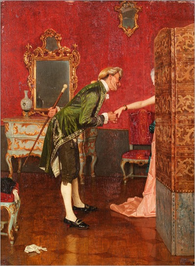 Orfeo Orfei (1836-1905) - A welcome suitor