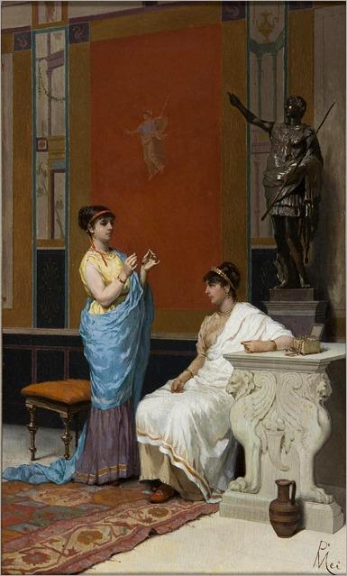Paolo Mei (1831 - 1899) - Pompeian scene-2