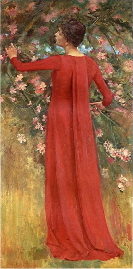 Robinson_Theodore_The_Red_Gown_aka_His_Favorite_Model