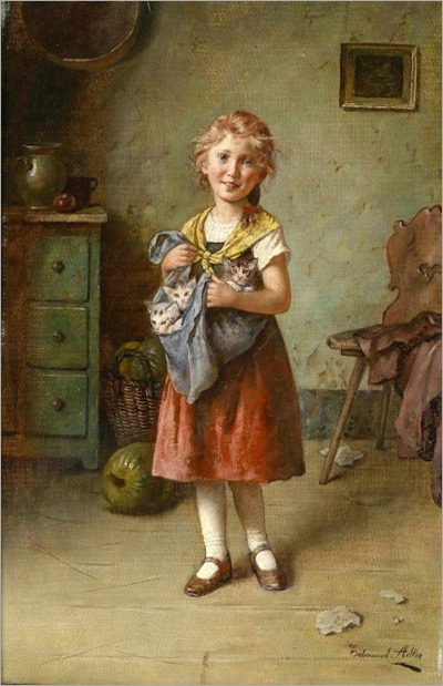 the-cats-mother - Edmund Adler (1876 – 1965, Austrian)
