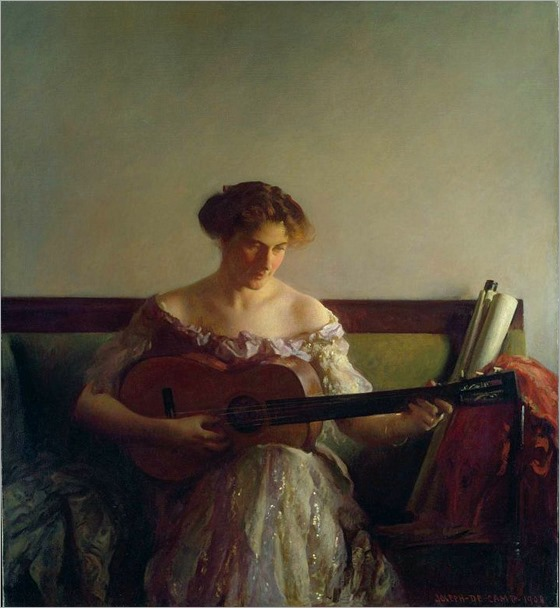 The Guitar Player (1908). Joseph Rodefer DeCamp (American, 1858-1923)