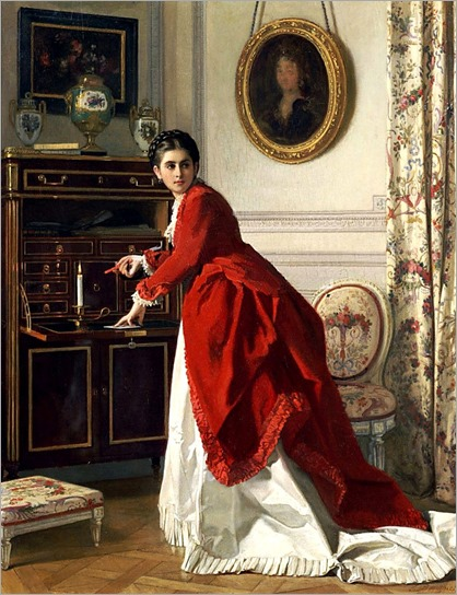 The Letter - Charles Baugniet (belgian painter)