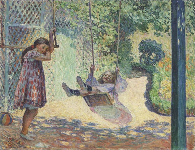 The Swing - Henri Lebasque (french painter)