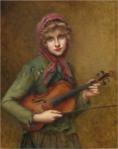 The Young Violin Player. Francois Martin-Kavel (French, 1861-1931)