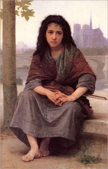 William-Adolphe Bouguereau.  Le Bohemienne