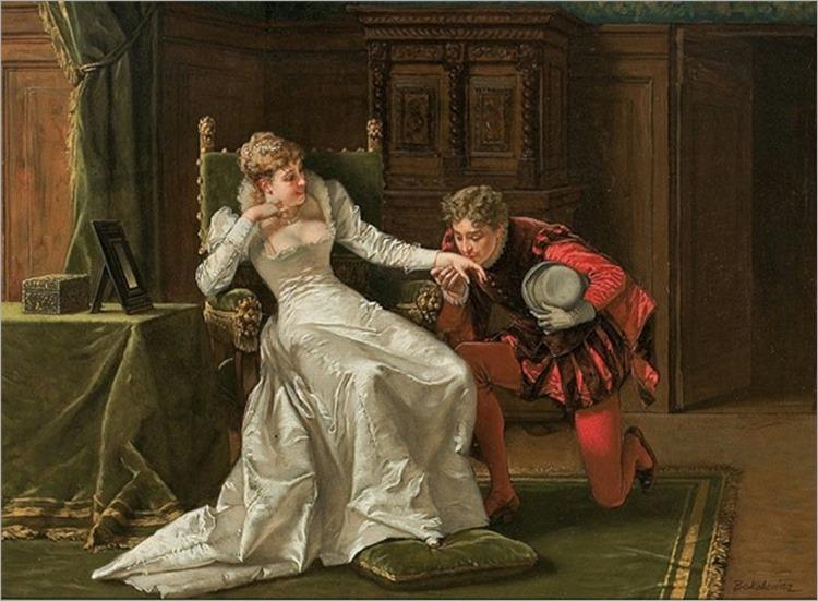 Wladislaw Bakalowicz - Scene from Henri Valois court