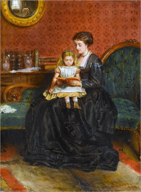 A Captivating Story by George Goodwin Kilburne (1839-1924)