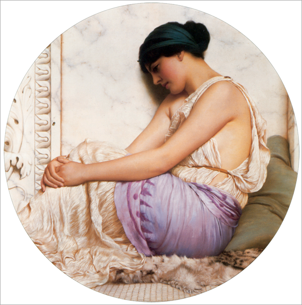 a grecian girl-1908-Godward