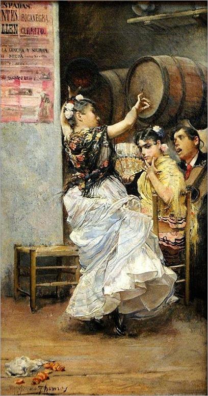 baile por bulerias-1884 by Jose Garcia y Ramos (spanish, 1852-1912)