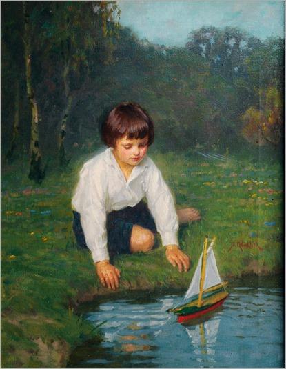 boy with sailing boat-Simon Glücklich