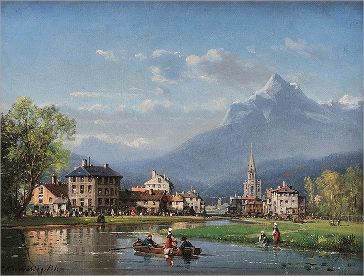Charles Euphrasie KUWASSEG (1833-1904) Fête de village