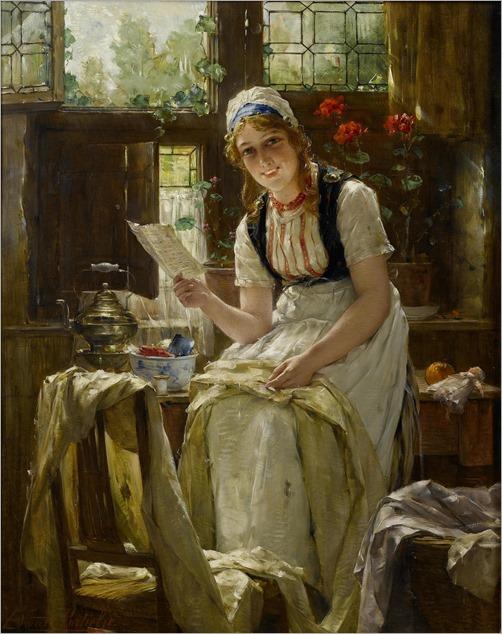 Edward Antoon Portielje (1861 - 1949) - The love letter