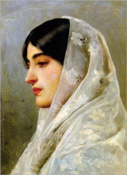 Eugene de Blaas - 1882_a young beauty