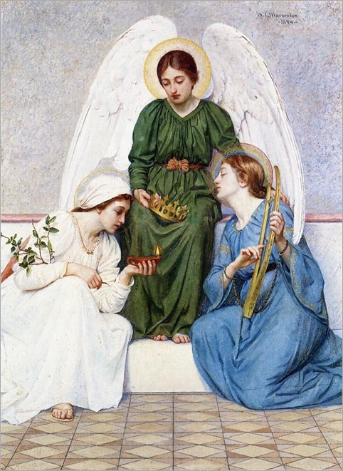 Faith, Hope and Love - 1894 - Mary L. Macomber (american painter)