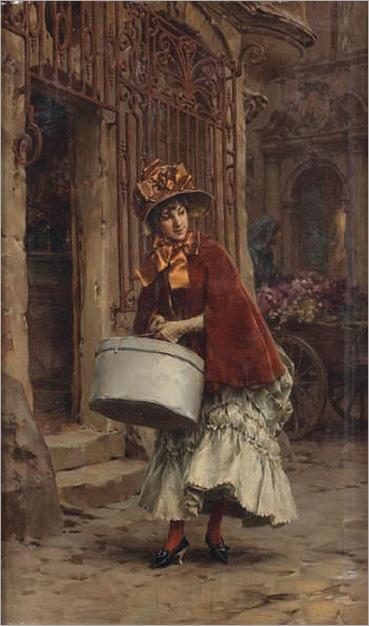 Frederik Hendrik KAEMMERER (dutch, 1839-1902) En sortant de chez la modiste