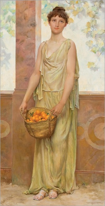 Girl with Oranges, Will Hicok Low