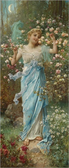 Hans Zatzka - Dancing Amongst the Flowers