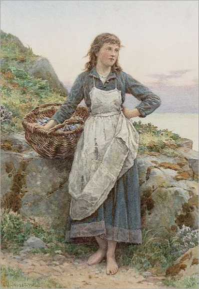 Henry James Johnstone-Fisher girl with mussels