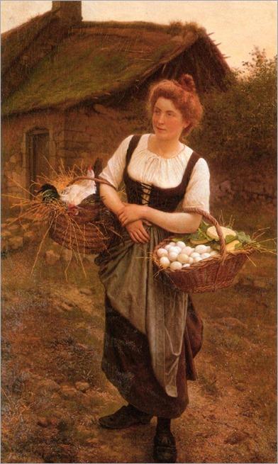 La fille de ferme_Gustave Boulanger