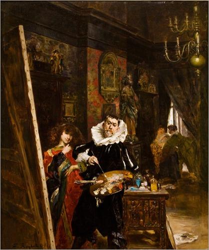 L'artiste dans son atelier - Ferdinand Roybet