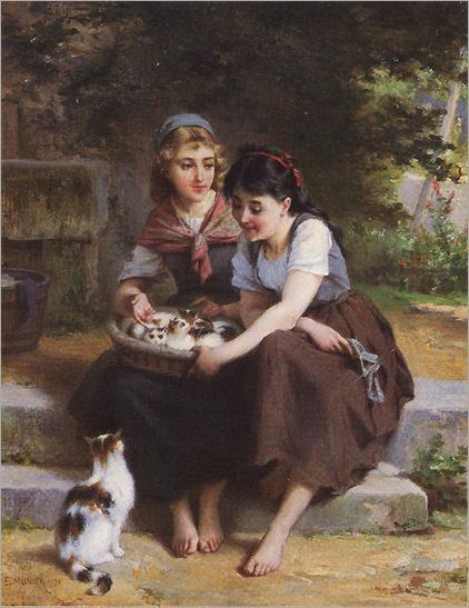munier_1895_3_deux_filles_avec_un_panier_de_chatons
