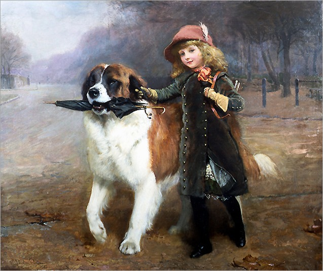 Off To School, by Charles Burton Barber