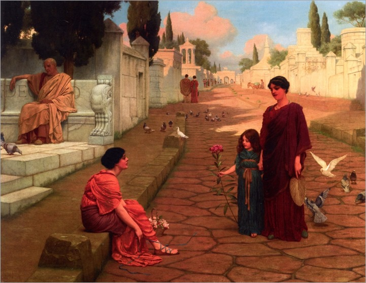 Outside the Gate of Pompeii - 1905 - Godward