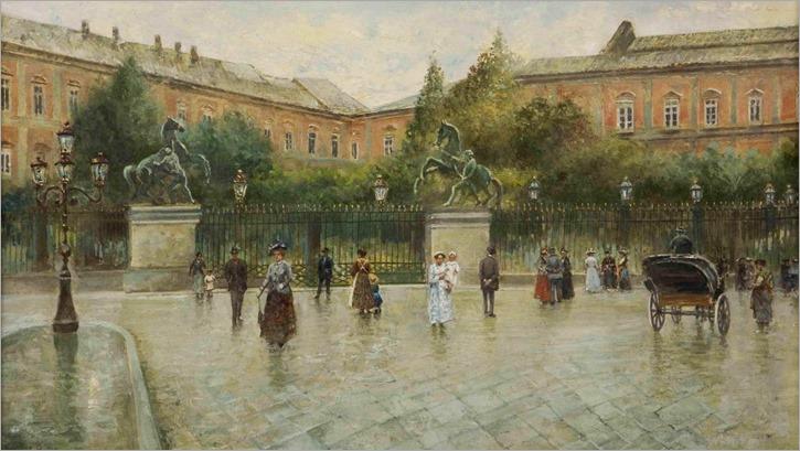 Piazza San Carlo, Napoli - Attilio Pratella (italian painter)