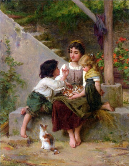 playing_with_the_kittens-emile-munier