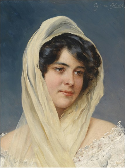 Portrait of a Young Lady with Veil_Eugene de Blaas