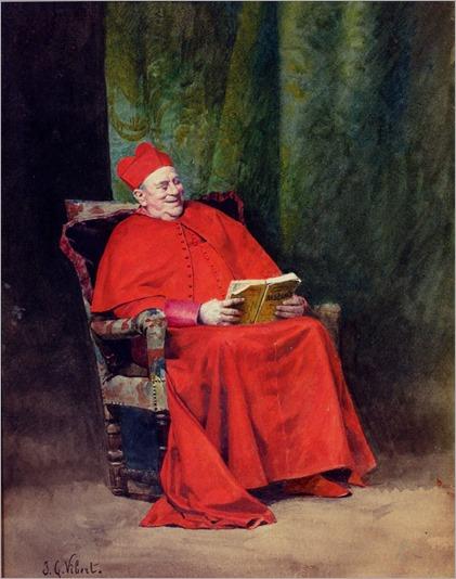 reading Rabelais - Jehan-Georges Vibert